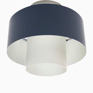 Industrielle Vintage 1/3 Einbau- Deckenlampe von Louis Kalff für Philips Eindhoven