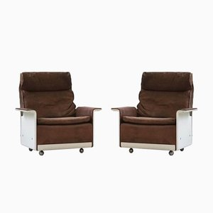 RZ 62 620 Lounge Chair in Leather by Dieter Rams for Vitsoe, 1970s, Set of 2