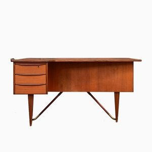 Teak Boomerang Desk by Peter Løvig Nielsen, 1950s