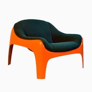 Italienischer Fiberglas Stuhl von Sergio Mazza für Artemide, 1960er