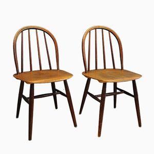 Fanett Chairs by Ilmari Tapiovaara for Edsby Verken, 1950s, Set of 2