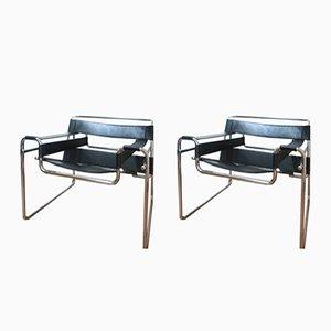 B3 Wassily Sessel von Marcel Breuer, 1960er, 2er Set