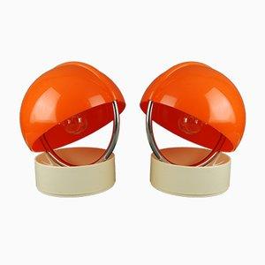 Tischlampen von D. Pelizza für Leuka, 1970er, 2er Set