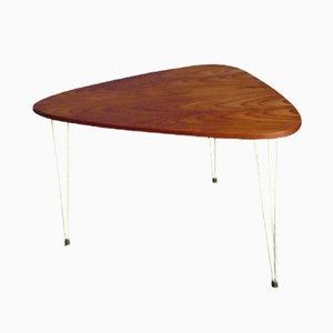 Mesa de centro de teca de Kajsa & Nisse Strinning para String, años 60