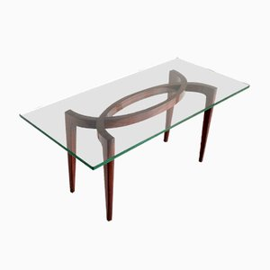 Coffee Table in Rosewood Veneer by Carlo Enrico Rava, 1940s