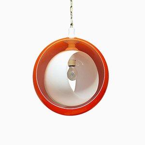 Lampada a sospensione in vetro di Murano di Carlo Nason per Mazzega, anni '60