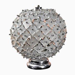Lámpara de mesa de cristal de Murano, años 70