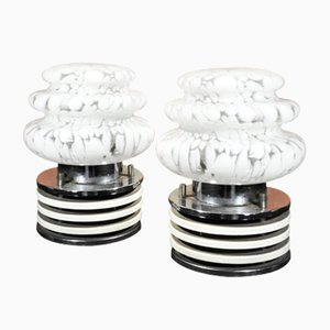 Bedside Lamps from Mazzega, 1970s, Set of 2