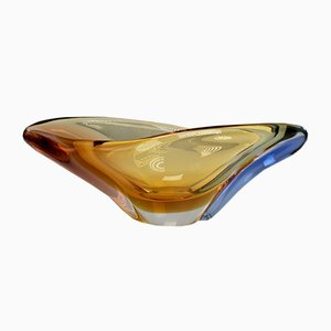 Romana Art Glass Bowl by Hana Machovska for Mstisov, 1960s