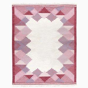 Tappeto Rolakan vintage fatto a mano in lana di Anna Johanna Angstrom, Svezia