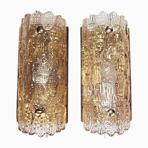 Vintage Gefion Wall Sconces by Carl Fagerlund for Orrefors/Lyfa, 1972, Set of 2