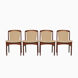 Quatre Chaises de Salon en Teck par Erik Buch pour Christensens Mobelfabrik