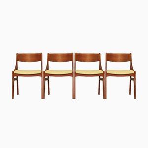 Dänische Esszimmerstühle aus Teakholz von H. Vestervig Eriksen, 4er Set