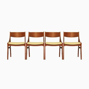 Danish Dining Chairs in Teak by H. Vestervig Eriksen, Set of 4