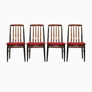 Chaises de Salon Modernes en Palissandre de Vamo Sønderborg, Danemark, Set de 4