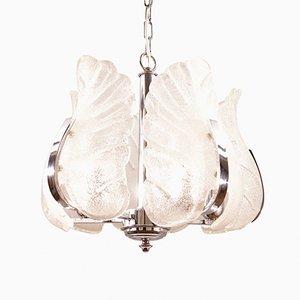 Vintage Kronleuchter aus Chrom & Murano Glas von Carl Fagerlund für Orrefors