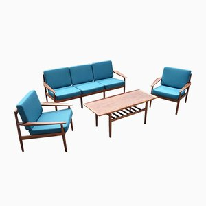 Danish Living Room Set form Grete Jalk for Dansk Design, 1967, Set of 4