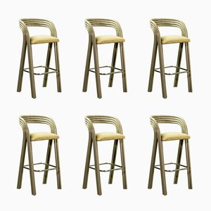 Dutch Barstools by Axel Enthoven for Rohé Holland, 1970s, Set of 6