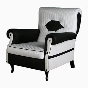 Vintage Black & White Club Chair