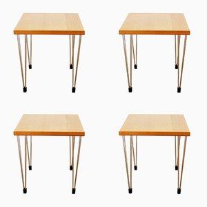 Tables d'Appoint Vintage de Pin Age, Set de 4