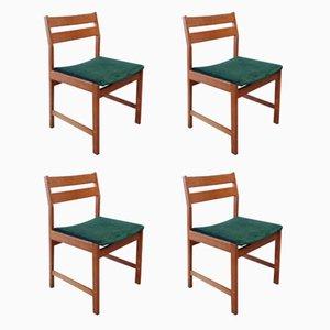 Dänische Vintage Esszimmerstühle aus Buche von Kurt Østervig für KP Møbler, 4er Set
