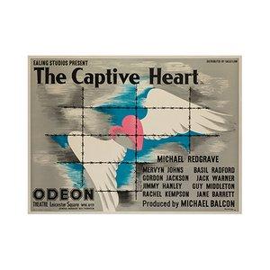 Affiche The Captive Heart par John Bainbridge, 1946