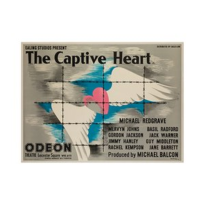 The Captive Heart Film Poster by John Bainbridge, 1946