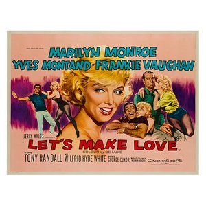 Lets Make Love Film Poster by Tom Chantrell, 1960