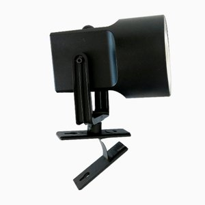 Black Danish LilleBror Clip-On Lamp from Louis Poulsen, 1970s