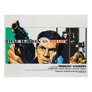 Bullitt Film Poster by Tom Chantrell, 1968