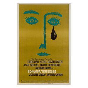 American Bonjour Tristesse Movie Poster by Saul Bass, 1968