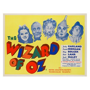 The Wizard of Oz Film Poster, 1959