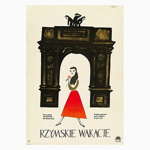 Roman Holiday Poster by Jerzy Flisak, 1959