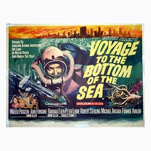 Voyage to the Bottom of the Sea Film Poster by Tom Chantrell, 1961