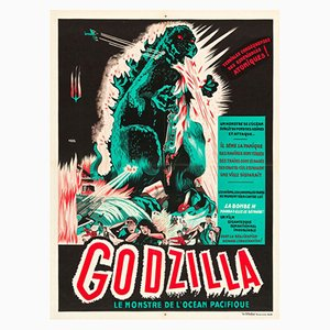 Affiche Godzilla par A. Poucel, 1950s