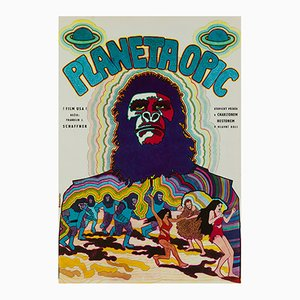 Planet of the Apes Film Poster by Vratislav Hlavatý, 1970