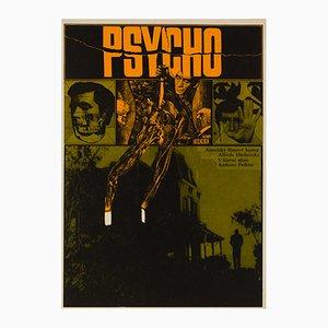 Psycho Film Poster by Zdenek Ziegler, 1970