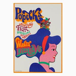 Cinderella Film Poster by Karel Vaca, 1970