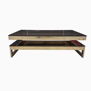 Tavolino da caffè a forma di G placcato in oro di Belgo Chrom / Dewulf Selection, anni '80