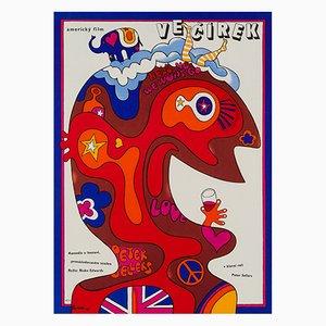 The Party Film Poster by Jaroslav Fišer, 1970s