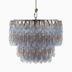 Poliedri Handblown Murano Glass Chandelier by Carlo Scarpa for Venini, 1969