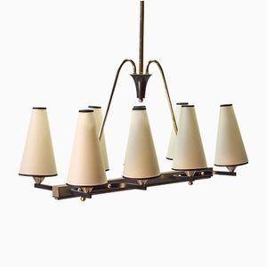 Lustre à 8 Lampes, France, 1950s