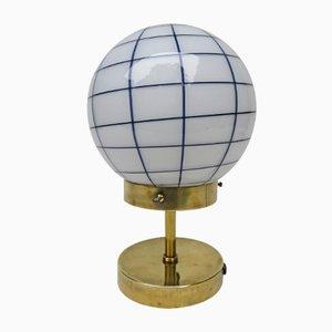 Lámpara de mesa Art Déco vintage pequeña de latón