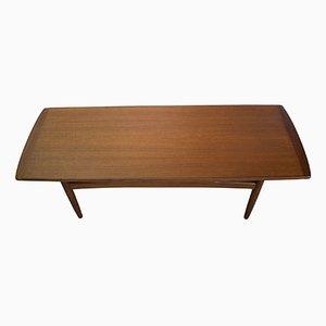 Mesa de centro danesa de teca, años 60