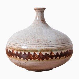 Vintage Keramik Vallauris Vase von Voldemar Volkoff