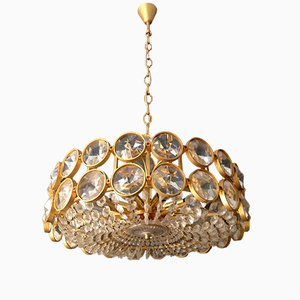 Lámpara de araña estilo Hollywood Regency de cristal de Palwa, años 60
