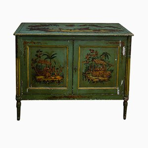 18th Century Handmade Cabinet with Chinoiserie Paintings