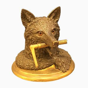 Vintage Fox Shaped Tobacco Jar