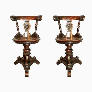 Bootsdeck Stühle von Radomsko, 1800er, 2er Set