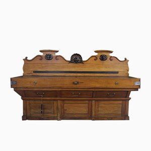 Large Antique French Oak Butchers Unit